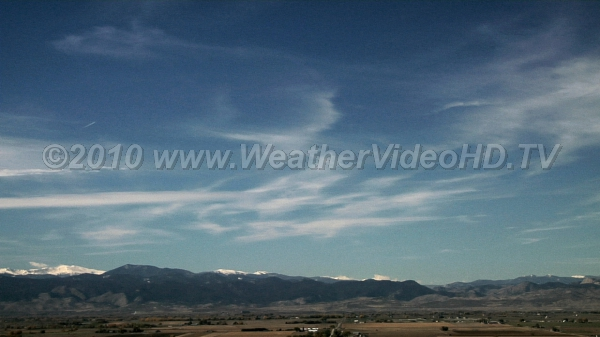 High Speed Cirrus High clouds move by quickly in strong northerly jet stream winds aloft