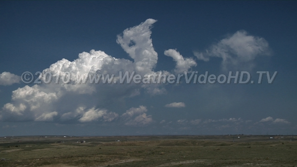 Attempted Anvils Towering cumulus (TCU) attempt to form anvil clouds in a strongly sheared but very dry atmosphere aloft