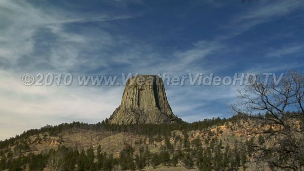 Cirrus at Devils Tower Cirrus in an early spring sky at Devil