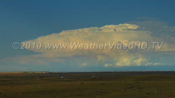 Supercell on the March Large supercell storm moving across the high plains