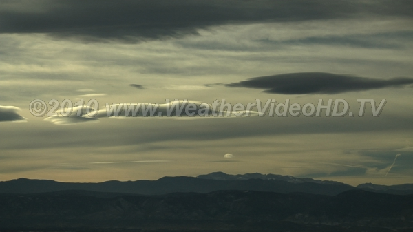 Windy Sky Mountain wave clouds mark flow of jet stream over Rockies