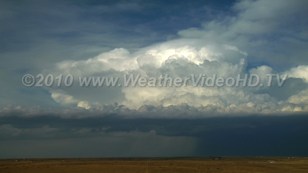 Departing Supercell Supercell heading east with a large rain free base