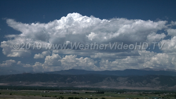 Mountain Cumulus Daytime heating over higher terrain triggers towering cumulus clouds