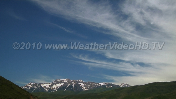 Cirrus Fibratus High, icy clouds stream along in the strong winds aloft