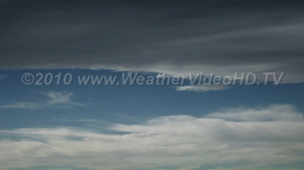 Banner Cloud Lee of Mountains Quasi-stationary cloud edge marks jump-like updraft in a standing wave cloud
