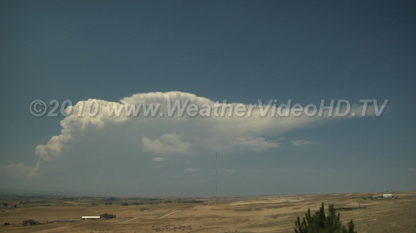 Classic Anvil Isolated thunderstorm cell produces classic anvil in strong winds aloft