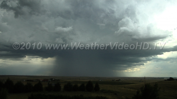 Downburst on the Plains Mature thundershower with downdrafts and strong winds and rainfall