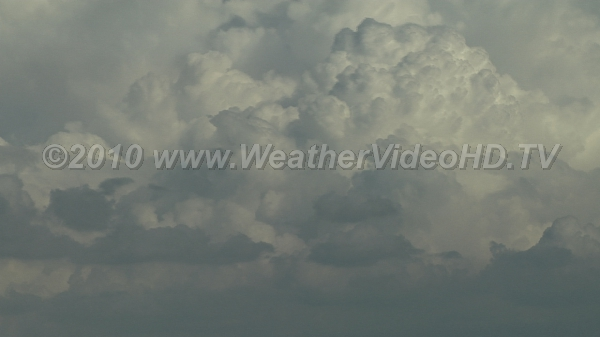 Convective Clouds Updrafts in TCU also show the effects of vertical wind shear
