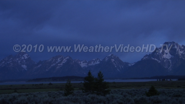 Stormy Dawn Clouds advance over Wyoming