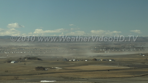 Blowing Dust Strong north winds strip dry winter topsoil.