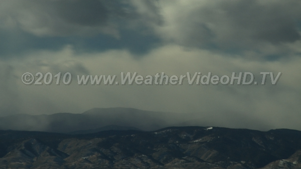 Snow Squalls Snow showers blow off mountains in strong downslope winds
