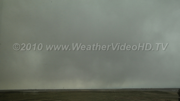 Nimbostratus and Precipitation Rain falling from low clouds