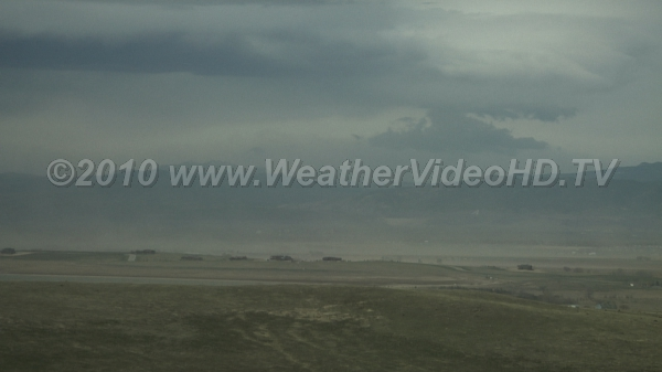 Dust Storm 50 mph winds blow large clouds of soil for tens of miles