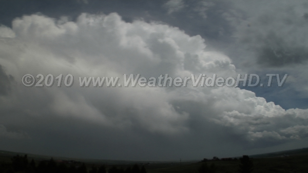Supercell Forming Strong inflow marks developing supercell