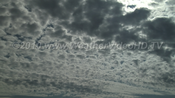 Classic Altocumulus Middle level clouds composed mostly of water droplets