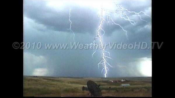 Multiple Stroke Cloud-to-Ground Lightning Flash occurs outside of main rain shaft