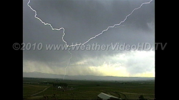 Lightning Flashes Overhead Long channel lowers strike to ground