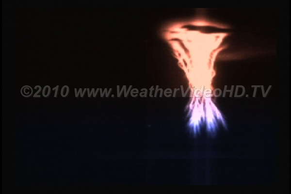 Sprites over Nebraska High speed, colorized images of sprites