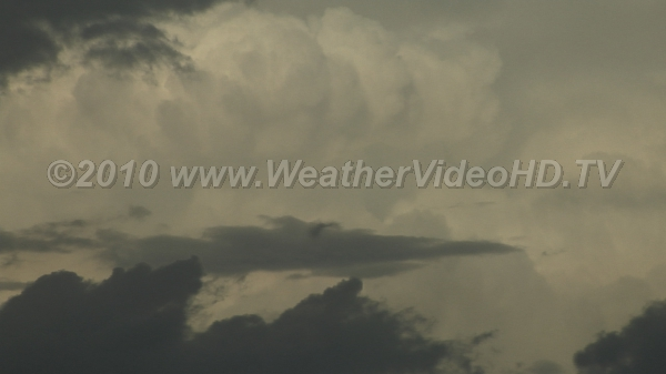 Thunderstorm Updrafts Close up view of rapidly developing convective tower