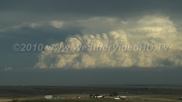 Developing High Plains Supercell Convective updrafts very evident