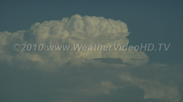 Thunderstorm Tops Intense updrafts visible in upper part of cumulonimbus cloud