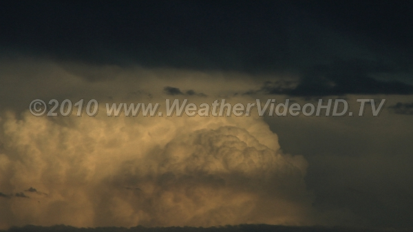 Distant Thunderheads Storm towers retreating at sunset