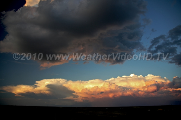 MCS in the Making Thunderstorms over eastern Colorado swarming together to form a mesoscale convective complex