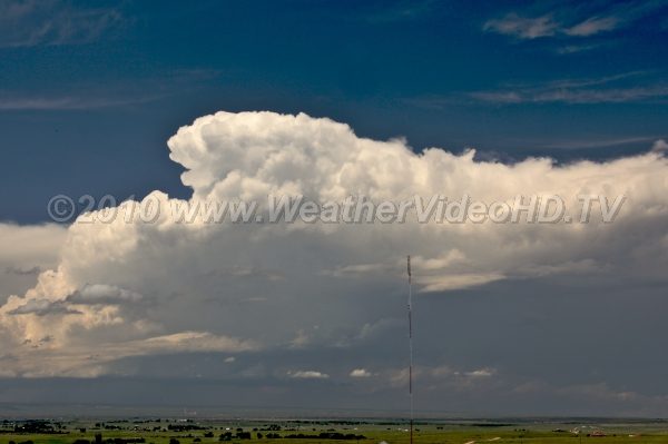 Supercell Supercell moving northeast onto the plains along Wyoming