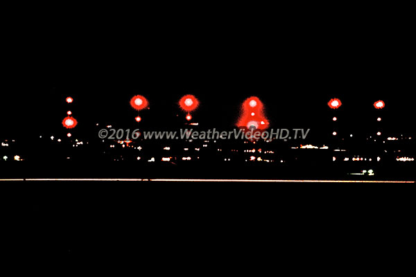 Light Pollution New LED beacons on towers may warn aircraft, but are also blindingly bright to neighbors. These are on the WWV towers in northern Colorado.
