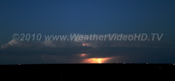Distant Storm Cloud-to-ground lightning flash from a distant prairie storm