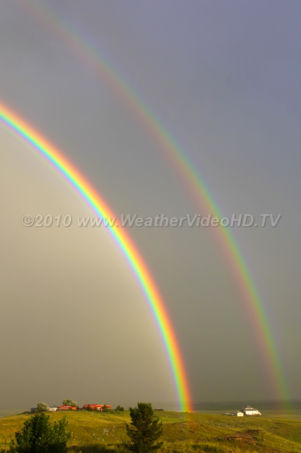 Two Bows Double rainbows are relatively common