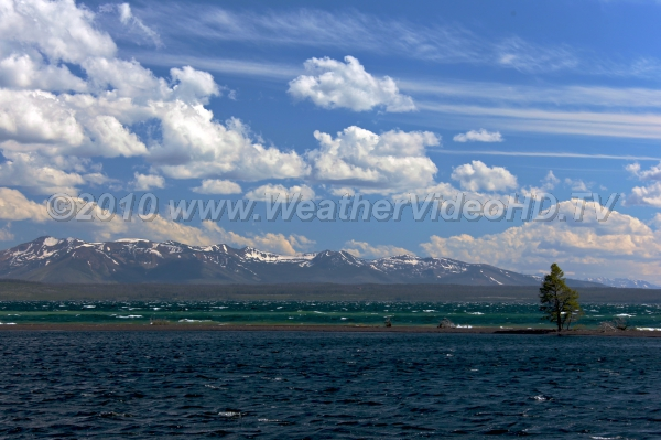 Whitecaps Whitecaps on Lake Yellowstone after cold frontal passage in July