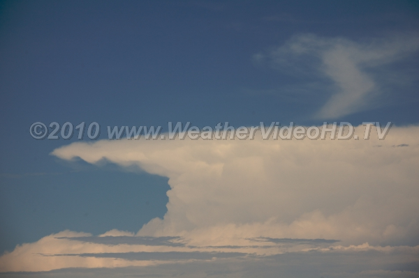 "Classic Anvil Cloud Why the top of the cumulonimbus cloud is called its ""anvil"""