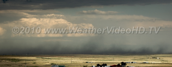 Blowing Dust Strong thunderstorm outflow winds loft clouds of soil and carry it for many miles