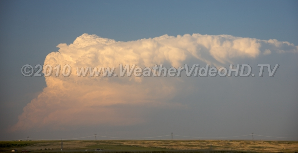 Far Off Supercell A supercell with is base below the horizon