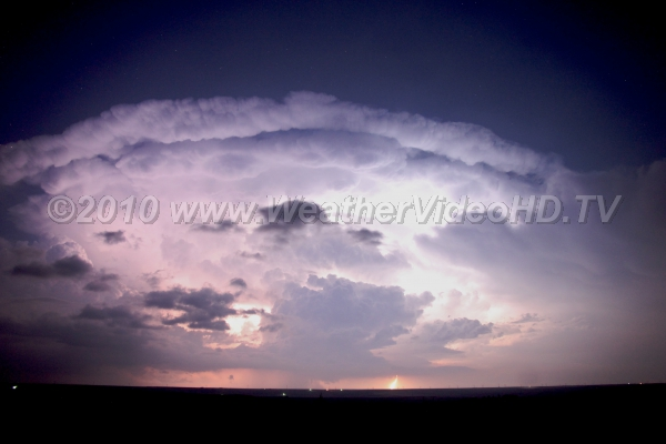 BIG Thunderstorm Continuous lightning illuminates a massive storm on the Kansas-Colorado border
