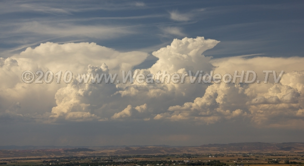 Mountain Thunderstorms Deep convection boils up over heated hillsides and mountains on a hot summer day