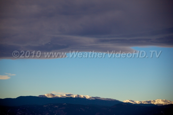 Banner Cloud Lee of Rockies Standing wave clouds lee of mountains during strong winds aloft