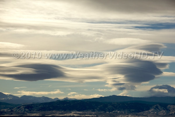 Flying Saucer Convention Altocumulus lenticularis - often reported as UFOs - stage an invasion
