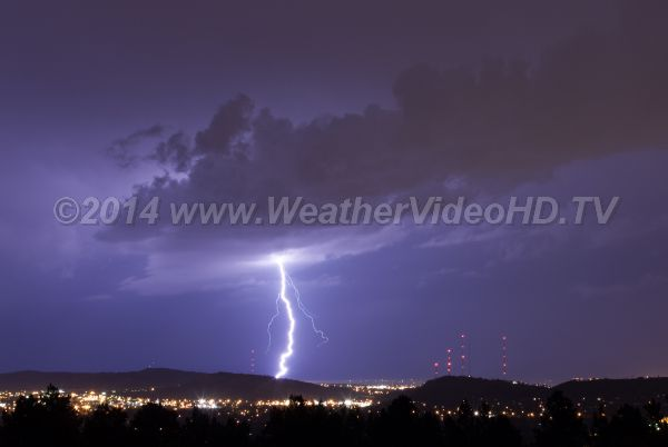 Night Strike Nocturnal thunderstorms are quite common in the central part of the U.S. during spring and summer